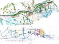 Trento, masterplan of the city. - 2002