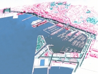 Trieste, harbour competition. - comp
